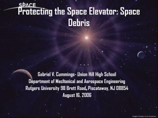 Protecting the Space Elevator: Space Debris