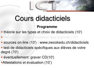 Cours didacticiels
