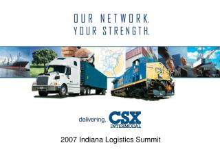 2007 Indiana Logistics Summit