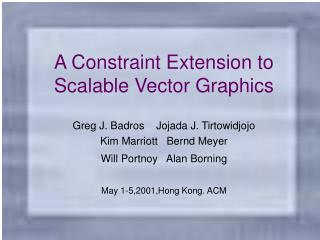 A Constraint Extension to Scalable Vector Graphics
