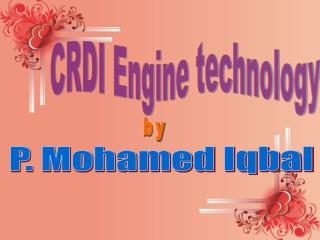 CRDI Engine technology