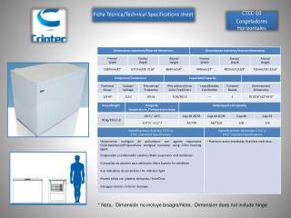 CTCC-10 Congeladores Horizontales