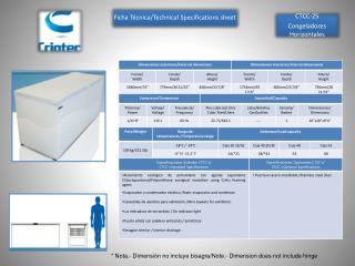 CTCC-25 Congeladores Horizontales