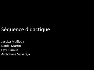 Séquence didactique