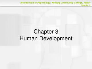 Chapter 3 Human Development
