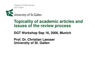 Measurement of the relevance of research topics and results