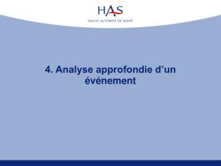 4. Analyse approfondie d�un �v�nement