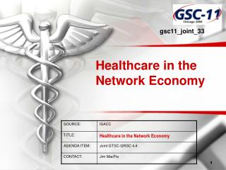Healthcare in the Network Economy