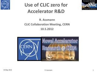 Use of CLIC zero for  Accelerator  R&D