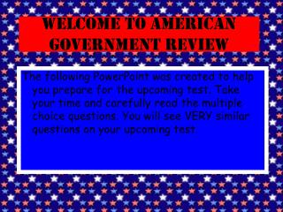 Welcome to American Government Review