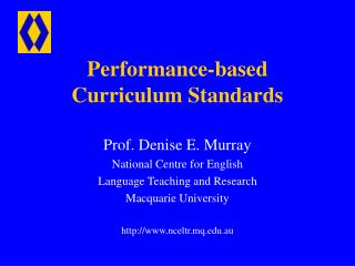 Performance-based Curriculum Standards