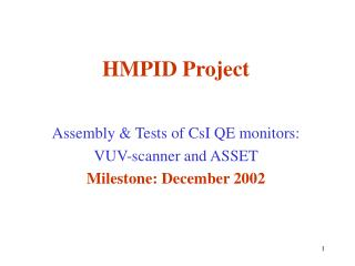HMPID Project