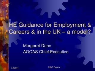 HE Guidance for Employment & Careers & in the UK – a model?