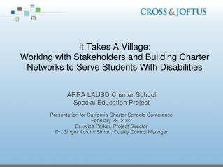 ARRA  LAUSD Charter School Special Education Project