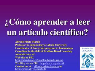 ¿Cómo aprender a leer un artículo científico?