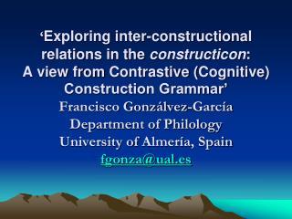 Boas (2010) on Contrastive Construction Grammar: