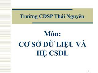 Trường CĐSP Thái Nguyên