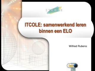 ITCOLE: samenwerkend leren binnen een ELO