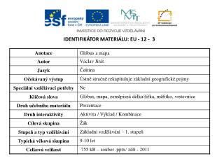 Identifikátor materiálu:  EU -  12  -   3