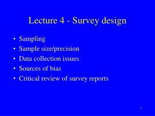 Lecture 4 - Survey design