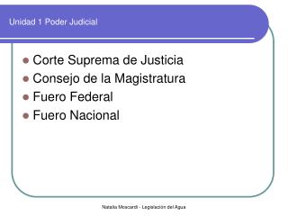 Unidad 1 Poder Judicial