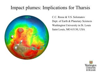 Impact plumes: Implications for Tharsis