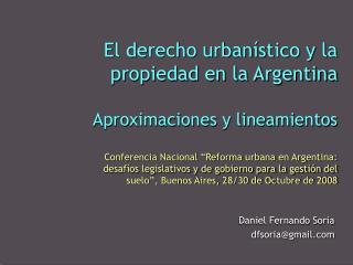 Daniel Fernando Soria dfsoria@gmail