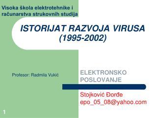 ISTORIJAT RAZVOJA VIRUSA (1995-2002)