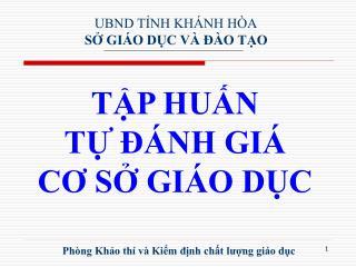Ph�ng Kh?o th� v� Ki?m ??nh ch?t l??ng gi�o d?c