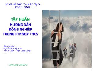TẬP HUẤN  H ƯỚNG  DẪN  ĐỒNG NGHIỆP  TRONG  PTNNGV THCS