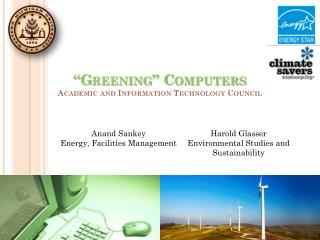 """Greening"" Computers Academic and Information Technology Council"