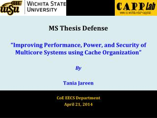 MS Thesis Defense