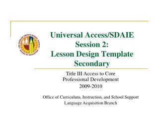 sdaie lesson plan template - ppt sdaie powerpoint presentation id 483256