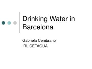 Drinking Water in Barcelona