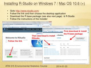 Installing R-Studio on Windows 7 / Mac OS 10.6 (+)
