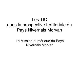 Les TIC  dans la prospective territoriale du Pays Nivernais Morvan