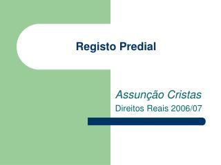 Registo Predial