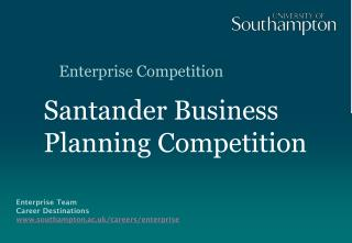 Santander Business Planning Competition