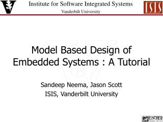 Model Based Design of Embedded Systems : A Tutorial