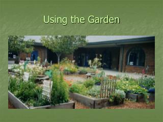 Using the Garden