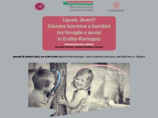 Educazione di genere. Risultati dell'indagine quantitativa sul territorio dell'Emilia-Romagna