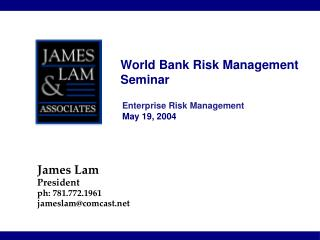 World Bank Risk Management Seminar