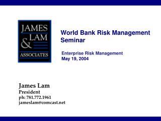 World Bank Risk Management Seminar