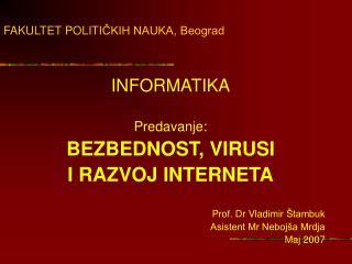 FAKULTET POLITI ČKIH NAUKA, Beograd