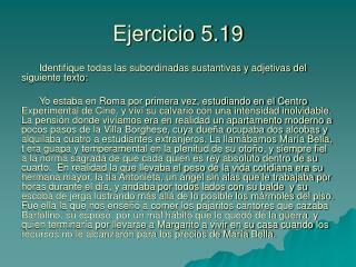 Ejercicio 5.19