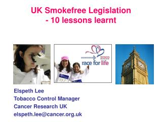 UK Smokefree Legislation - 10 lessons learnt