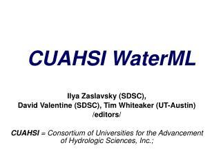 CUAHSI WaterML