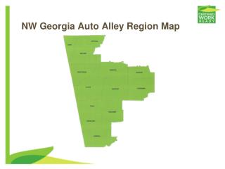 NW Georgia Auto Alley Region Map