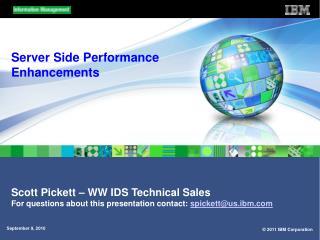 Server Side Performance Enhancements