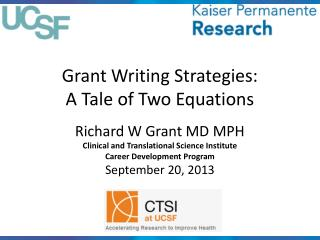Grant Writing Strategies: A Tale of Two Equations